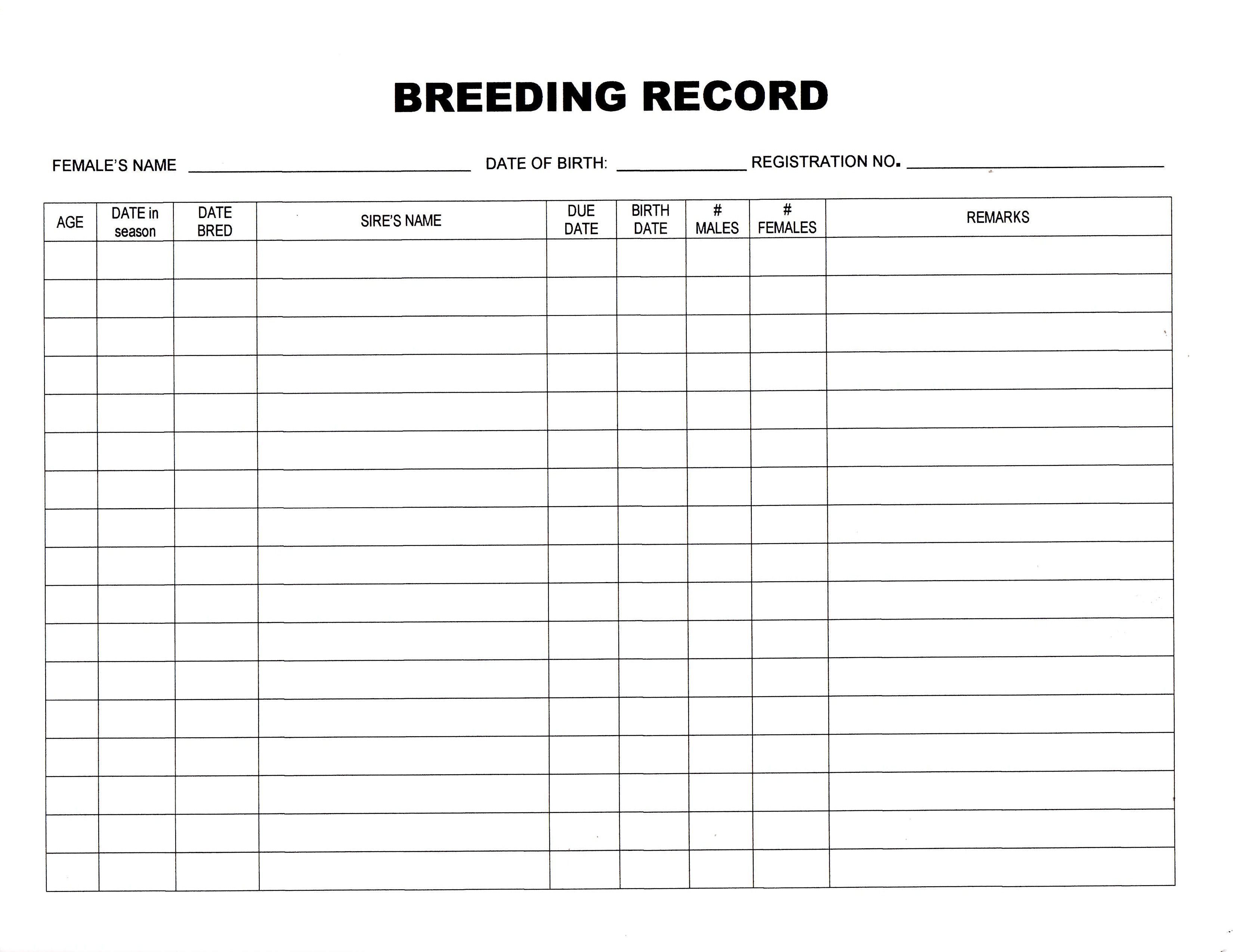 Whelping Chart | Dog Breeds Picture